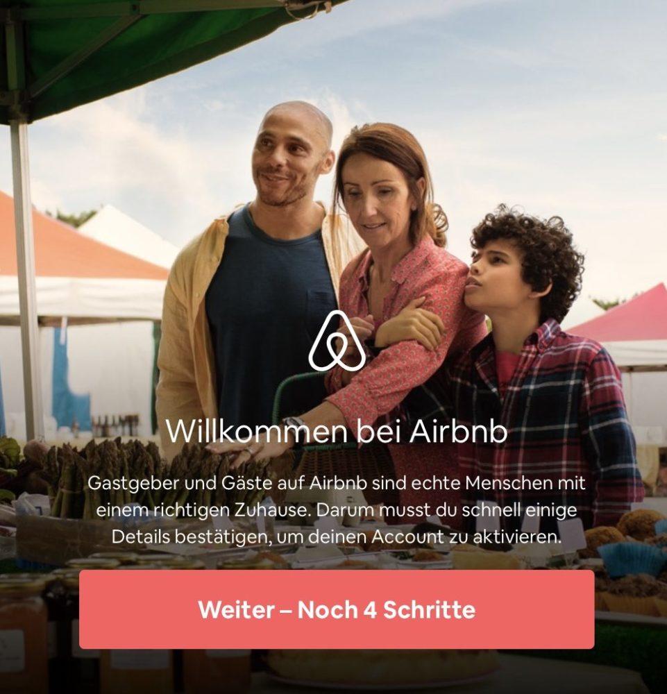 Airbnb Anmelden Schritt 4