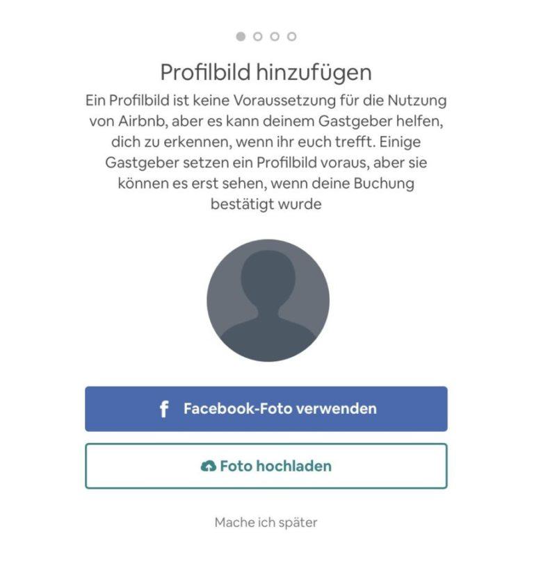 Airbnb Anmelden Schritt 5 Profilbild hinzufügen