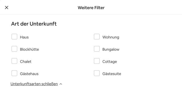 Airbnb Unterkunft suchen Domburg Weitere Filter Unterkunftsarten