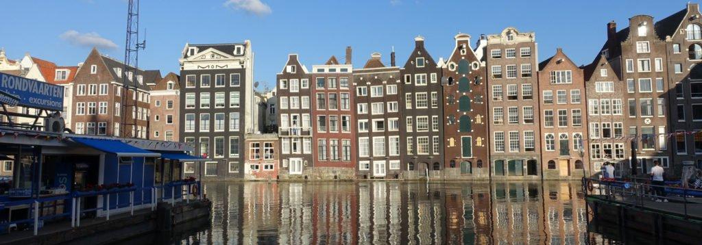 Amsterdam Wasser Häuser Gracht Panorama