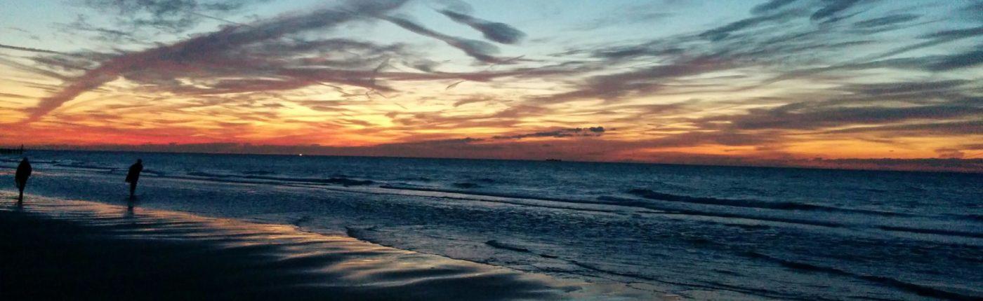 Domburg Wetter Sonnenuntergang Strand