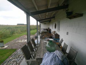 Serooskerke 2013 Ferienwohnung Airbnb Veranda Eingang