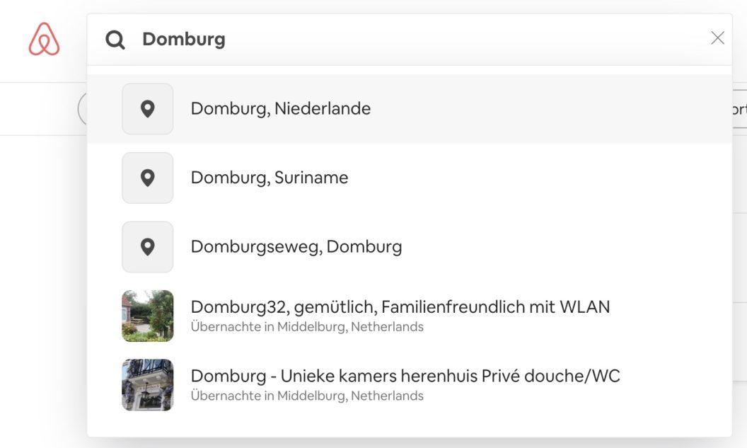 Airbnb Unterkunft suchen Domburg Ort